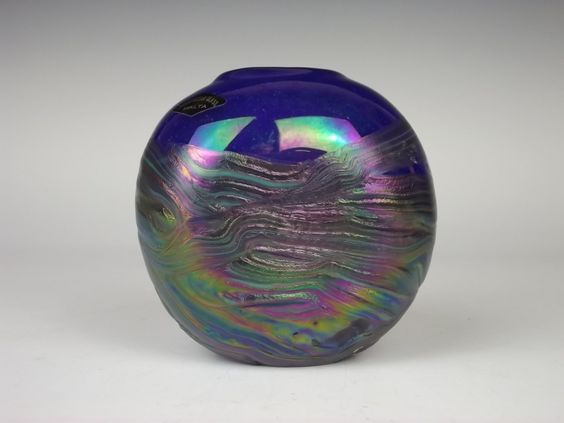 Phoenician Malta iridescent cobalt blue vintage glass vase. £25.00, via Etsy.