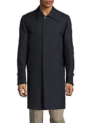 Brioni Silk & Cotton Coat - Black - Grey - Size M