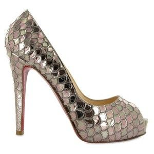 sneaker spikes - CHRISTIAN LOUBOUTIN - POSEIDON SEQUINS PEEP TOE PUMPS--the look ...
