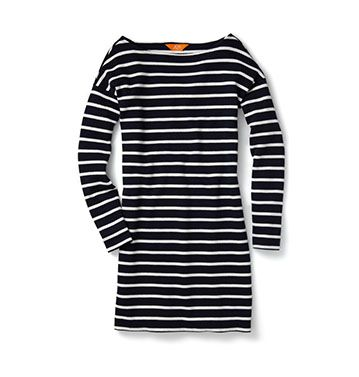 Love this simple dress. I just bought some navy stripe knit and I am going to make a dress but I will skip the long sleeves and a little different style too.