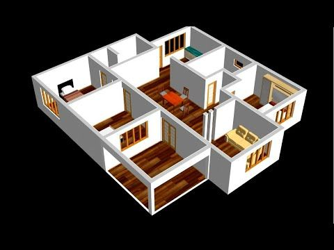 Best House Plan 1500ft 3 Bedroom With American Kitchen 2020 Youtube In 2020 Small House Floor Plans House Plans Best House Plans