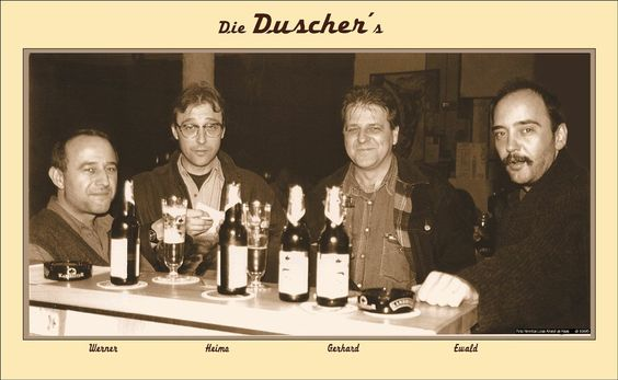 """Die """"Duscherbuam"""" aus Schärding."""