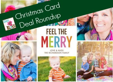 Roundup of Christmas card deals | ChaosIsBliss.com