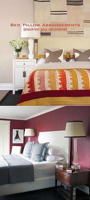 How To Arrange Pillows On A King Bed Master Bedroom