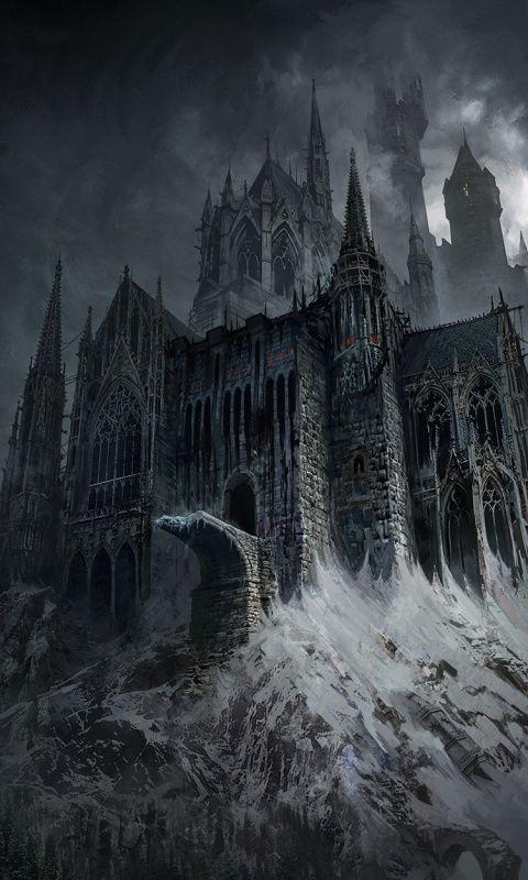 Fantasy dark castle art Wallpaper Gothic castle fantasy Gothic fantasy art Fantasy castle