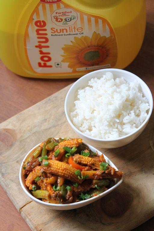 Vegetable Jalfrezi Recipe With Fortune Sunflower Oil Recipe Recipes Vegetable Jalfrezi Indian Food Recipes