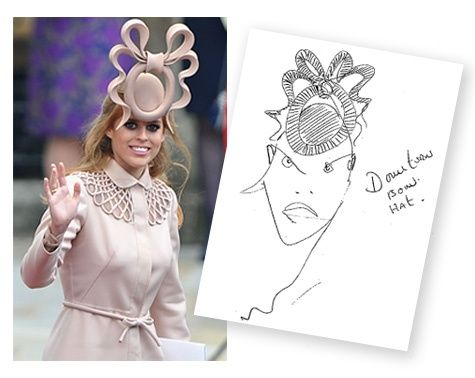 Philip Treacy sketch of