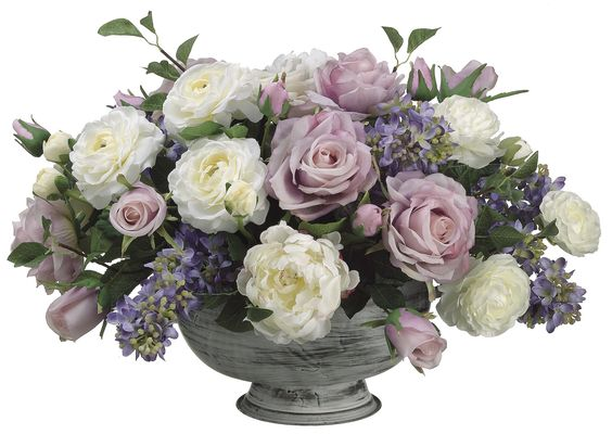 Rose, Peony, Lilac and Ranunculus Arrangement: