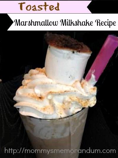 Toasted Marshmallow Milkshake #Recipe | Toasted Marshmallow ...