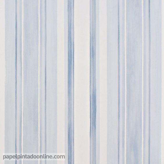 Papel pintado infantil babies 10144 con rayas verticales - Papel pintado rayas verticales ...