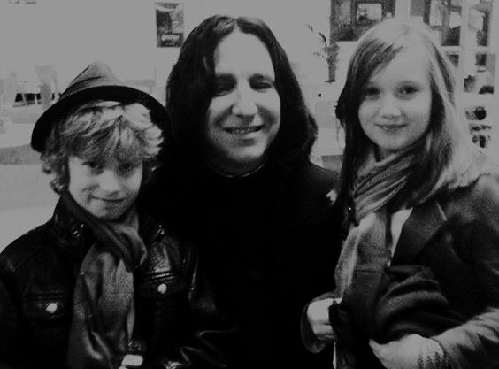 Alan. Snape with young fans:
