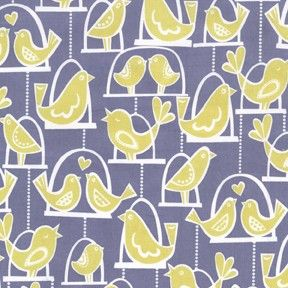 Michael Miller Fabric, Bird Swing - Gray, Etsy, The Needle Shop, $9.95