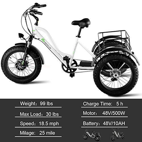 Emojo Caddy Tricycle White 48V 500W
