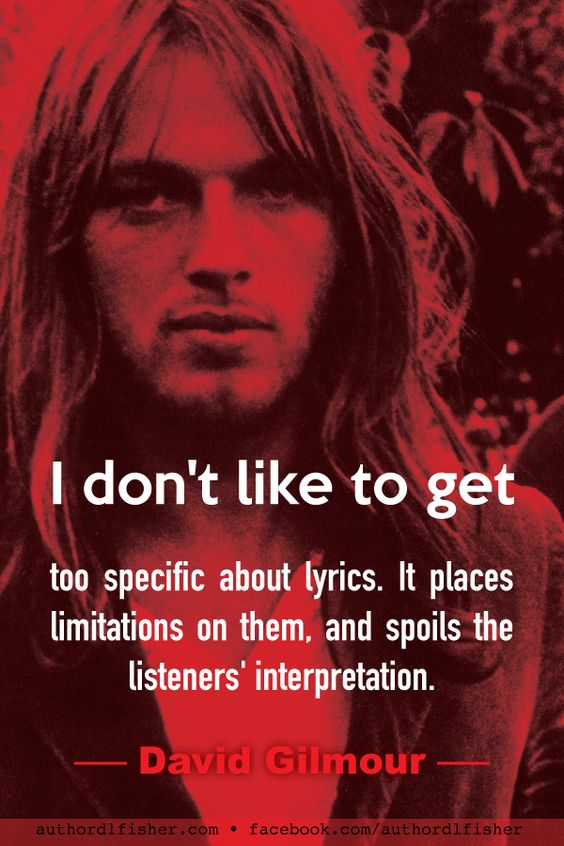 David Gilmour, singer, songwriter, and guitarist for  Pink Floyd, and solo artist, speaks from a lifetime of experience in the business of music and writing. #DavidGilmour #PinkFloyd #songwriting #WritingInspiration #lyrics