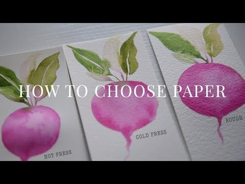 Watercolor 101 Best Watercolor Paper For Beginners Asmr No