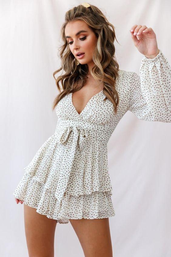 Buy the Honey Shirred Frill Midi Dress Mocha | Selfie Leslie