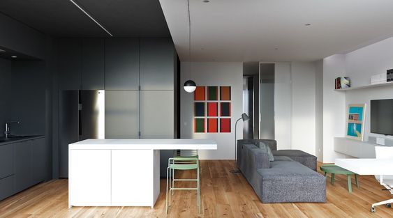 Modest Size Apartments That Make The Most Of White