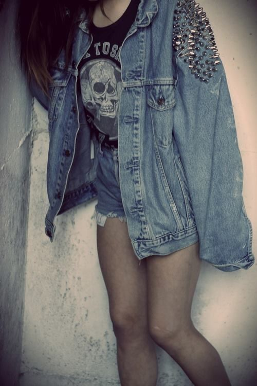 RCK grunge spiked denim jacket #grunge #inspo #privatearts | yas please | Pinterest | Denim ...