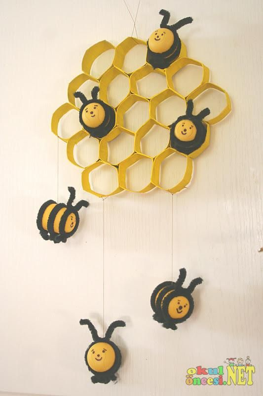 the bee tree craft toilet paper tubes plastic eggs pipe