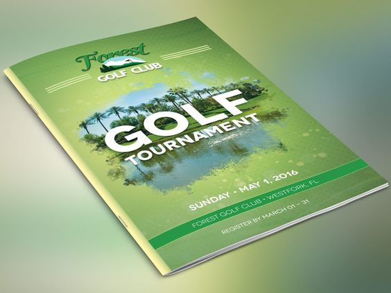 Golf Brochure Photoshop Template  Classic Golf Brochures And