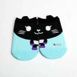 Cat and Fishbone Socks - Milk & Soda