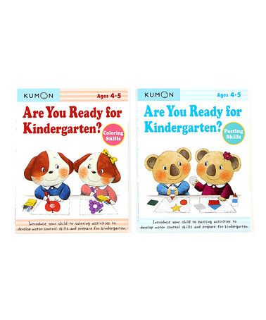 Are You Ready for Kindergarten Coloring & Pasting Workbook Set #zulily #zulilyfinds