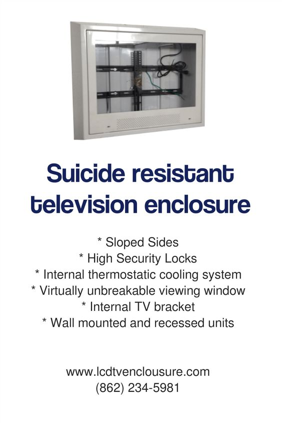 USA made anti-ligature tv enclosure
