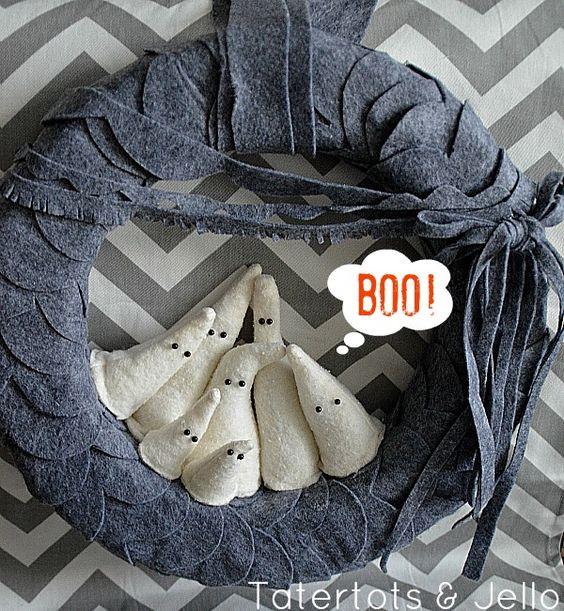Boo ghost wreath