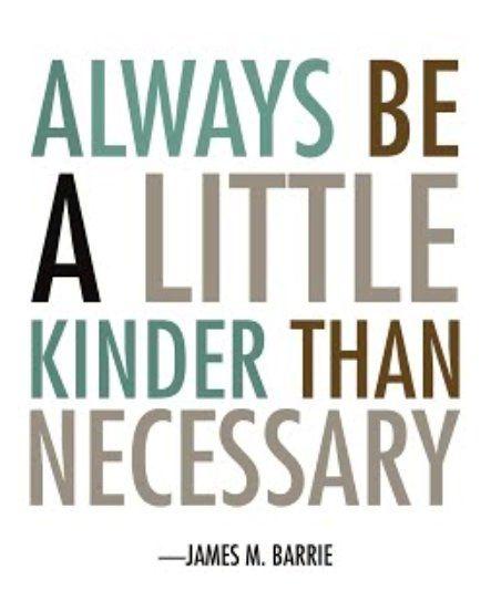 Kindness...spread it around: