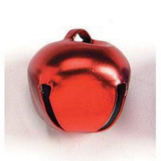 1.38in. Matte Red Jingle Bells (pack of 4)