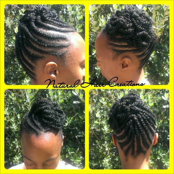 Photo by natural_hair_creations flat twist style