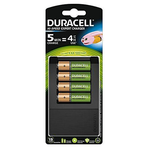 From 22 95 Duracell 5 Minutes Hi Speed Expert Battery Charger With 4 Aa Batteries Included Duracell Battery Charger Rechargeable Batteries