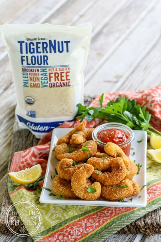The World's Best Paleo Breaded Shrimp {Made with TigerNut Flour}