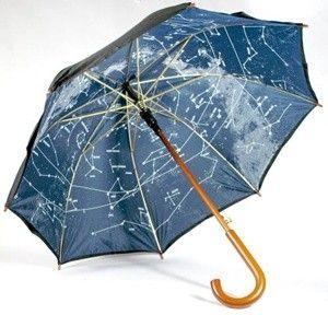 celestial constellations star map umbrella