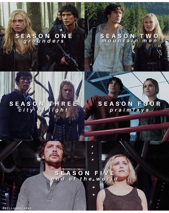 Bellarke through out the season finales. I wonder if it was Jason Rothenburg's idea to end the world long before season 5. It almost happened in season 4. #bellarke