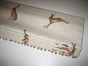 NEW Peony & Sage Linen Fabric Any Design MTM Roman Blind Floral Stripe Bee Hare