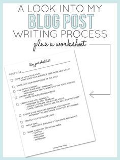 A Look Into My Blog Post Writing Process — The Alisha Nicole