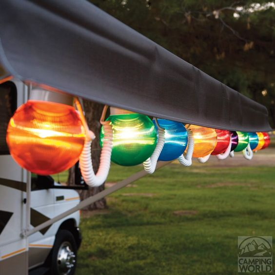 Multi-Color Prismatic Globe Lights with White Cord - 10 Globes - Patio Lights