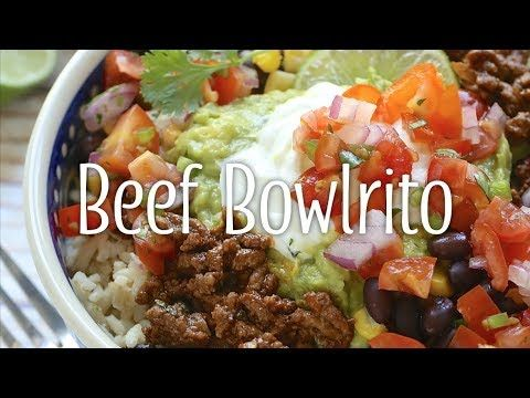 A Healthy Version Of A Restaurant Favorite This Big Bowla Mexican Deliciousness Is Basically A Burrito Without Mexican Food Recipes Cottage Meals Dinner Time