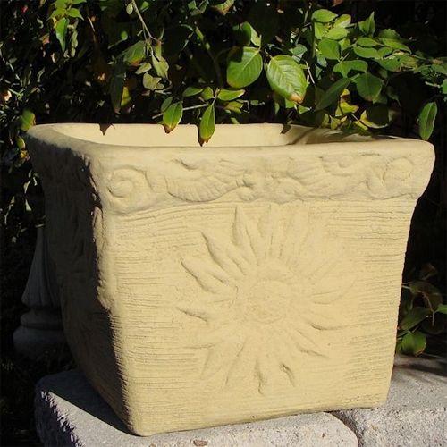Concrete Sunflower Pot Arizona Pottery Concrete Planters Garden Pottery