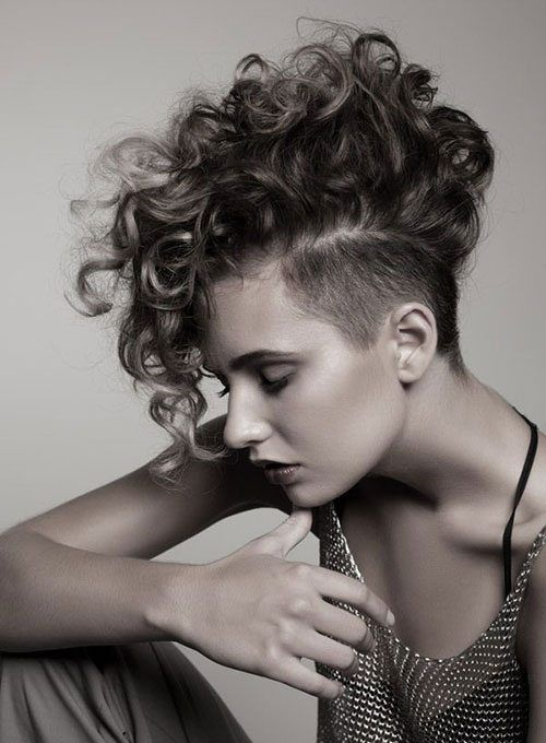 Punk Hairstyles For Curly Hair Curly Mohawk Hairstyles