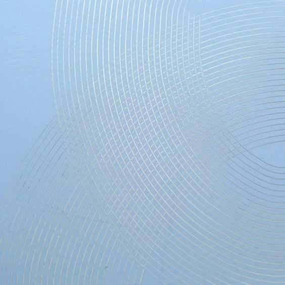 Image 2 of 6 James Boatman Light Blue on Silver 2011 160x160 cm