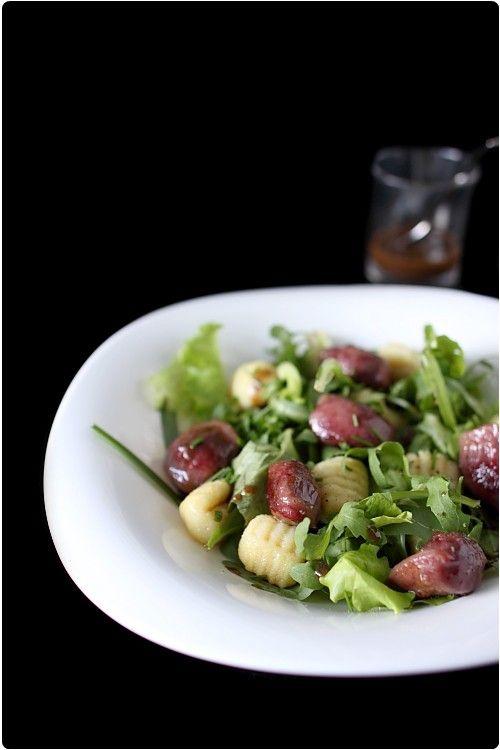 Salade de gésier au gnocchi