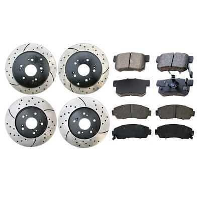 2 FRONT + 2 REAR 1500 4 Platinum Hart *DRILLED /& SLOTTED* Disc Brake Rotors