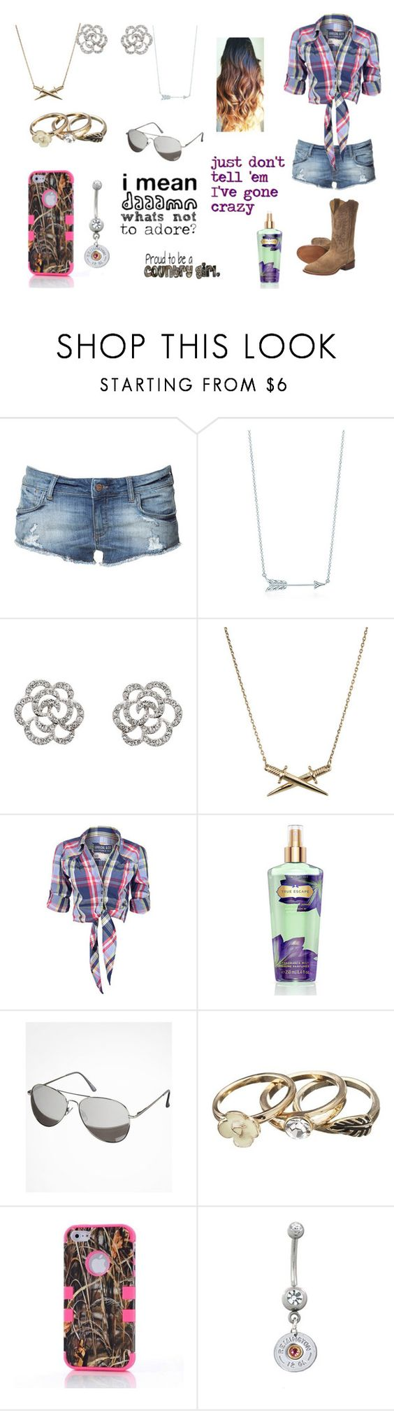 """""""Untitled #603"""" by taylor-loomis ❤ liked on Polyvore featuring Zara, Tiffany & Co., Finesse, Wildfox, Soul Cal, Victoria's Secret and Remington"""