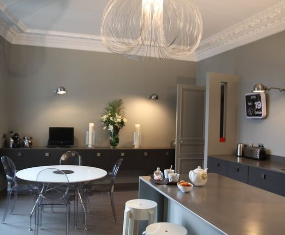 Photos d co id es de d coration de salon design chic for Cuisine design appartement haussmannien