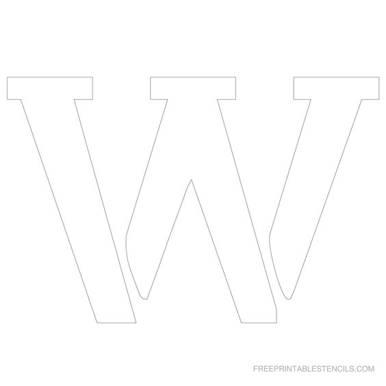 printable 6 inch letter stencil w