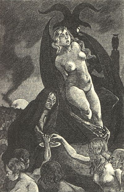 La Sorcière Paris, France, 1862 par Jules Michelete  Compositions artistiques de Martin Van Maele, 1911