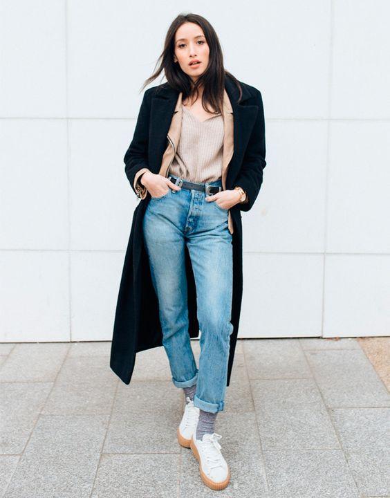 mom jeans: use no inverno