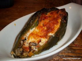 365 Days of Clean Eating: Clean Eating #112: Cheesey Stuffed Vegetarian Pablano Peppers